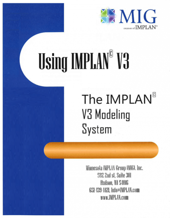 The IMPLAN V3 Modeling System Training Workshop Book (2008)